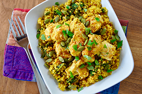 Lemony Kale Quinoa With Turmeric And Chicken Recipe